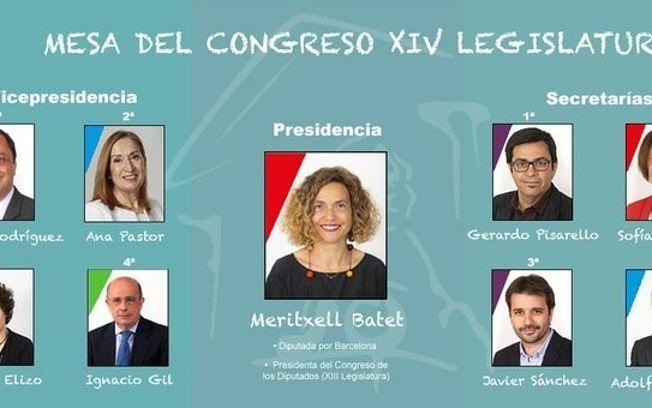Miembros de la nueva Mesa del Congreso.