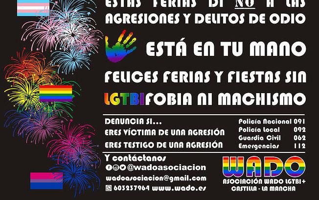 Cartel de la campaña de WADO LGTBI+ de Castilla-La Mancha