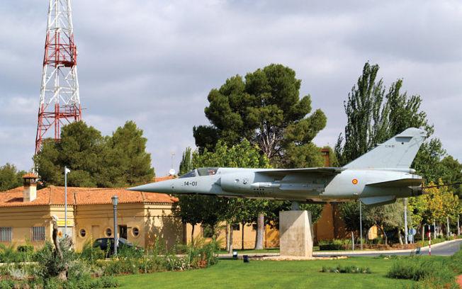 Imagen de archivo de una de las plazas situadas en la Base Aérea de Los Llanos.