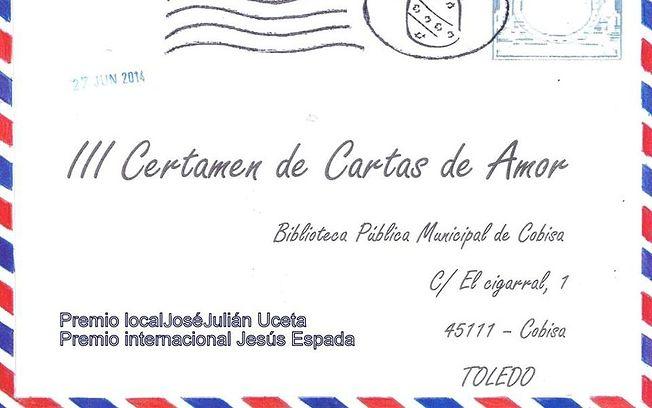 Jesús Espada Triguero y José Julián Uceta, ganadores del III Concurso de Cartas de Amor de Cobisa