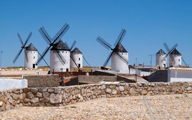 Molinos de viento en Campo de Criptana, Ciudad Real.