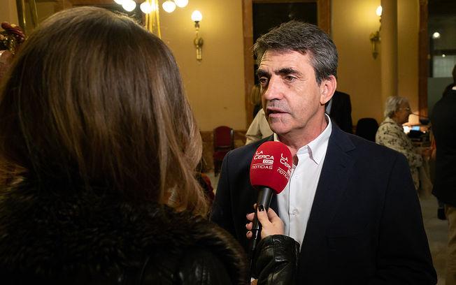Victorino Martín, presidente de la Fundación Toro de Lidia, durante la presentación en Albacete.