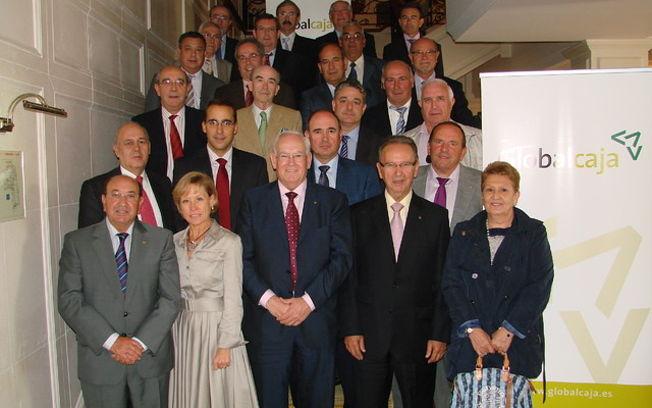 Los Consejeros de Globalcaja tras la aceptación de sus cargos.